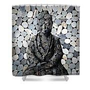 Mineral Buddha Shower Curtain