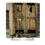 Miners And Muckers Outhouse Shower Curtain