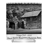 Mingus Mill -- Black And White Poster Shower Curtain