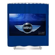 Mini Blue Shower Curtain