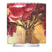 Mini Carnation Bouquet Shower Curtain