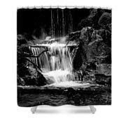 Mini Falls Black And White Shower Curtain