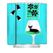 Mini Groovy Flowers 2 Shower Curtain