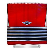 Mini Red Shower Curtain