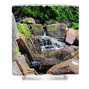 Mini Water Fall Shower Curtain