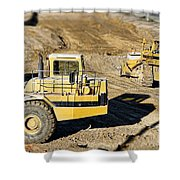 Miniature Construction Site Shower Curtain