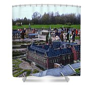 Miniature Friedenspalast Shower Curtain