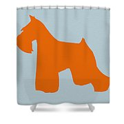 Miniature Schnauzer Orange Shower Curtain by Naxart Studio