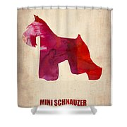 Miniature Schnauzer Poster Shower Curtain