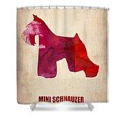 Miniature Schnauzer Poster Shower Curtain by Naxart Studio