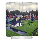Miniature Villages Shower Curtain