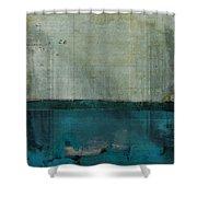 Minima - S02b Turquoise Shower Curtain