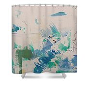 Minimal Blue Shower Curtain