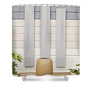 Minimal Gardening Shower Curtain