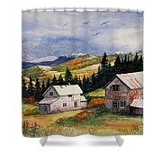 Mining Days Over Shower Curtain