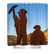 Mining For Gold Shower Curtain
