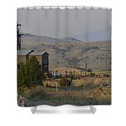 Mining In Butte Shower Curtain