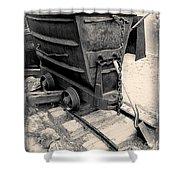 Mining Ore Cart Shower Curtain