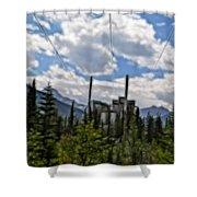 Mining Plant Fractal Shower Curtain