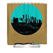 Minneapolis Circle Poster 1 Shower Curtain