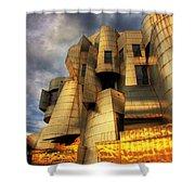 Minneapolis Skyline Photography Weisman Museum Shower Curtain