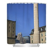Minneapolis Smokestack Shower Curtain