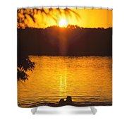 Minneapolis Sunset Love Shower Curtain