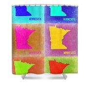 Minnesota Pop Art Map 2 Shower Curtain