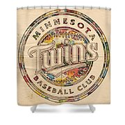 Minnesota Twins Logo Vintage Shower Curtain