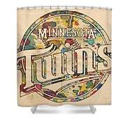 Minnesota Twins Poster Vintage Shower Curtain