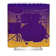 Minnesota Vikings Drum Set Shower Curtain