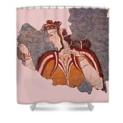 Minoan Wall Painting Shower Curtain