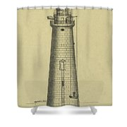 Minot's Ledge Lighthouse Shower Curtain