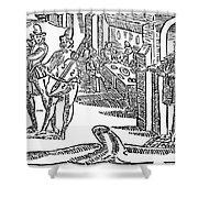 Minstrels, 17th Century Shower Curtain