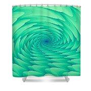 Mint Cave Shower Curtain
