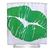 Mint Green Kiss Shower Curtain
