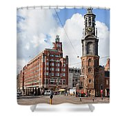 Mint Tower In Amsterdam Shower Curtain