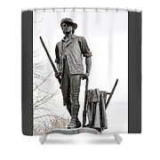 Minute Man Statue Shower Curtain