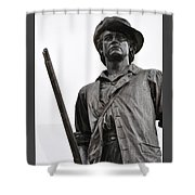 Minute Man Statue Concord Massachusetts Shower Curtain