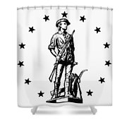 Minuteman Shower Curtain