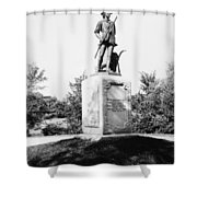 Minuteman Statue Shower Curtain