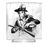 Minutemen Soldier Shower Curtain