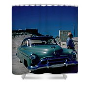 Miracle Mile Oldsmobile Shower Curtain