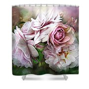 Miracle Of A Rose - Mauve Shower Curtain