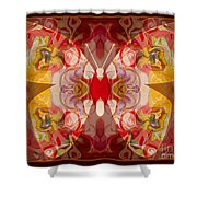 Miracles Can Happen Abstract Butterfly Artwork Shower Curtain