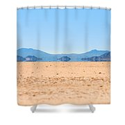 Mirage In The Death Valley Shower Curtain