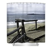 As Summer Ends On Miramar Beach Shower Curtain