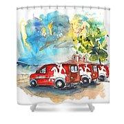Miranda Do Douro Post Cars Shower Curtain