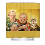 Miriam's Tea Party Shower Curtain