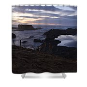 Mirror At Glass Beach Shower Curtain